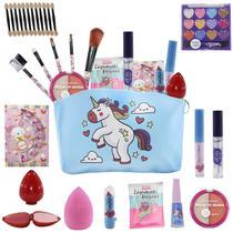 Kit Infantil de maquiagens e itens de beleza para Maleta BZ81 - Bazarnaweb