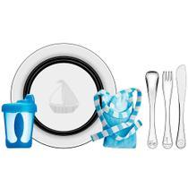Kit Infantil Le Petit 6 PeÇAs Para RefeiÇÃO Azul Em AÇO Inox Tramontina 64250640 -