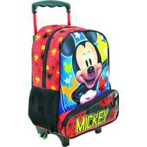 Kit Infantil MICKEY HEY MICKEY , Mochilete de Rodinhas e Lancheira  -  Tamanho 14 - Xeryus