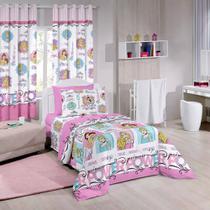 Kit Infantil Princesas Power Disney Edredom + Jogo De Cama Santista -