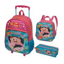 Kit Infantil SHOW DA LUNA ALOHA-Mochilete, Lancheira e Estojo - Pacific