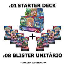 Kit Iniciante Pokémon 1 Starter Deck + 8 Blister Unitário 108 Cards - Copag