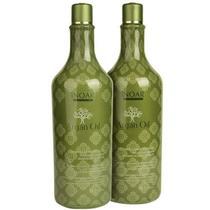 Kit Inoar Argan Oil Shampoo de Hidratação e Bálsamo Condicionador 1 litro (cada) -