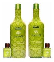 Kit Inoar Argan Oil Shampoo E Condicionador 1 Litro+2 Óleos -