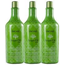 Kit Inoar Argan Oil System - Shampoo 3x1000ml -