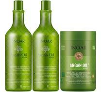 Kit Inoar Argan Shampoo + Condicionador 1000ml + Máscara 1000g -