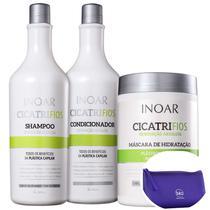 Kit Inoar Cicatrifios Salon Trio (3 Produtos) +Nécessaire Roxo Beleza na Web -