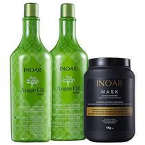 Kit Inoar Shampoo e Condicionador Argan Oil + Máscara Mask -