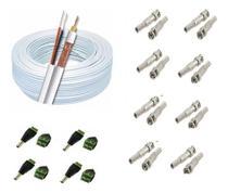 Kit Instalação 8 Câmeras De Segurança Cabo Cftv E Conectores - Connect Cable