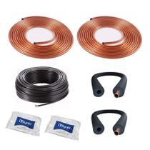 Kit Instalação Cobre + Cabo PP + Isolamento Térmico + 2 fitas PVC - Frioshopping