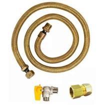 Kit Instalaçao Gas Encanado Mangueira 1,00metro + Reg + Adap - Elite Gás -