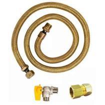 Kit Instalaçao Gas Encanado Mangueira 1,20 + Reg + Adap - Elite Gás -