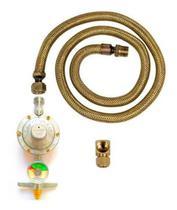 Kit Instalação Gás Mangueira 2,00mt Com Manômetro Botijãoglp - Guiga Gás Peças E Acessórios