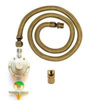 Kit Instalação Gás Mangueira 3,00mt Com Manômetro BotijãoGlp - Guiga Gás Peças E Acessórios