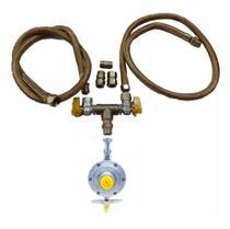 Kit Instalação Mangueira 1,50mt Cooktop Forno Gas Botijãoglp - Guiga Gás Peças E Acessórios