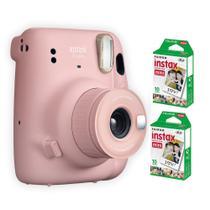 Kit Instax Mini 11 + 20 Filmes Rosa Polaroid Instantanea Fujifilm -