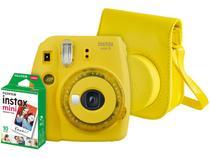 Kit Instax Mini 9 Fujifilm Amarelo Banana - Flash Automático com Acessórios