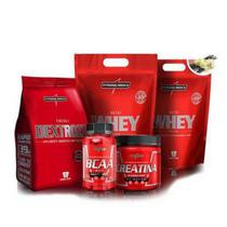 Kit Integralmedica 2x Whey 900g + Bcaa + Creatina + Dextrozz -
