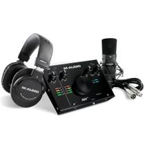 Kit Interface M-Audio Air1924 Microfone e Fone Profissional - M. Audio