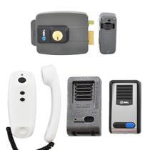 Kit Interfone HDL Com Fechadura Elétrica e Protetor Externo Antivandalismo -