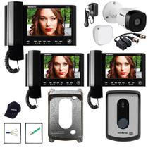 Kit Interfone IV 7010 HS Intelbras Camera Extra e 2 Extensão -