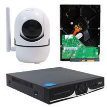 Kit IP Sem fio DVR 04 Canais + 01  Câmera Wifi HD 720P + HD 320GB - Knup