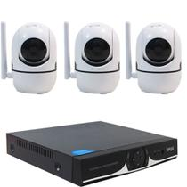 Kit IP Sem fio DVR 04 Canais + 03 Câmera Wifi HD 720P - Outros