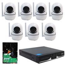 Kit IP Sem fio DVR 04 Canais + 07 Câmera Wifi HD 720P + HD 320GB - Knup