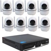 Kit IP WIFI DVR 04 Canais + 08 Câmera IP HD 720P Wifi - Ípega