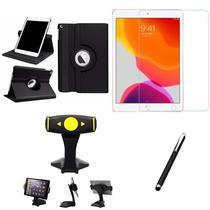 Kit iPad 2019 10.2' (7a Geração) Película + Capa Girat + Suporte Mesa + Caneta - Armyshield -