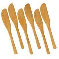 Kit Jogo 6 Espátulas Faquinhas Em Bambu Patê Manteiga Welf -