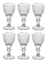 Kit Jogo 6 Mini Taças De Vidro 50ml Para Licor Tequila - Lyon