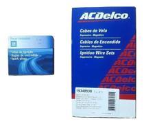 Kit Jogo Cabos e Velas de Ignição Agile Cobalt Corsa Meriva Montana Prisma 1.4 8v Flex - Gm Original