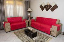 Kit Jogo Capa Protetora Sofá 2 E 3 Lugares Protetor King Suede Premium Decorativa Capa de Sofa - Love4Home