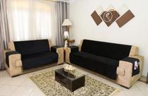 Kit Jogo Capa Protetora Sofá 2 E 3 Lugares Protetor Padrão Suede Premium Decorativa Capa de Sofa - Love4Home