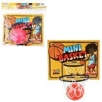 Kit jogo de basquete com tabela + aro + bola mini - Mcc Brink