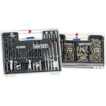 Kit jogo de brocas bits pontas 300 peças para furadeira parafusadeira kit de furar e fixar completo - Makeda
