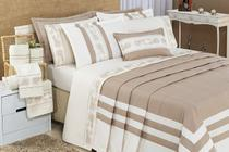 Kit jogo de cama colcha cobre leito rebeca king 4 peças - Relíquias Do Interior