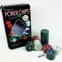 Kit Jogo de Poker c/ 100 Fichas Lata Original - 136288 - Barcelona