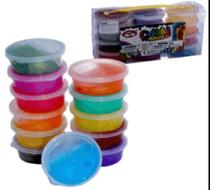 Kit Jogo Massinha Gel Slime com 12 potes (sai 2,09 a unid no kit) - Futuro