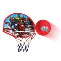 Kit Jogo Tabela De Basquete Infantil Vingadores Avengers Completa Com Bola - Lider