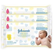 Kit Johnson's Baby Toalhinhas Recém-Nascido 288 unidades -