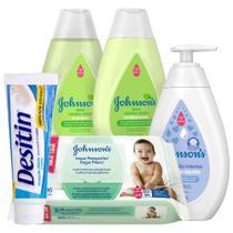 Kit Johnsons Baby Completo Cabelos Claros com 5 unidades - Desitin