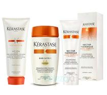 Kit Kérastase Shampoo Bain Satin 1 250ml + Condicionador Lait Vital 200ml + Protetor Térmico Nectar Thermique 150ml