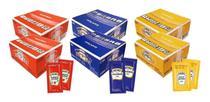 Kit Ketchup Mostarda Maionese Heinz Sachês - 2 Caixas De Cada -