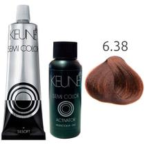 Kit Keune Semi Color 60ml - Cor 6.38 - Louro Escuro Avelã + Ativador 60ml