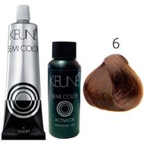 Kit Keune Semi Color 60ml - Cor 6 - Louro Escuro + Ativador 60ml