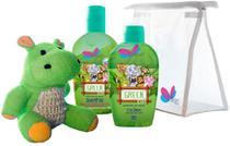 Kit Kids Safari Hyppo Green Colônia + Shampoo - Delikad