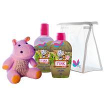 Kit Kids Safari Hyppo Pink Colônia + Sabonete Líquido - Delikad