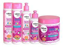 Kit Kids Salon Line Sos Cachos Infantil Completo 5-Intens -